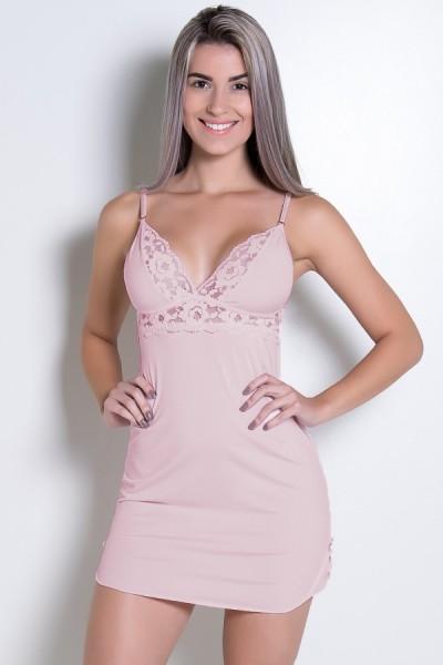 Camisola Romantic Sem Bojo (Rosa Bebê) | Ref: KS-B260-003