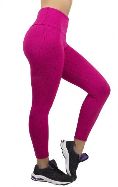 Calça Legging Cós Alto Tecido Jacquard | Ref: F534