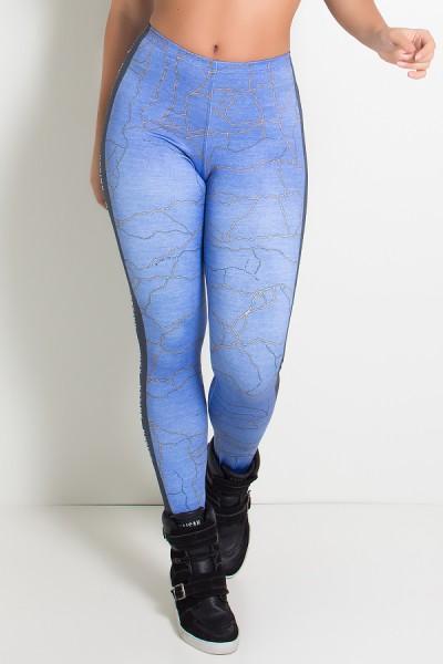 Legging Jeans Craquelado Sublimada | Ref: KS-F1981