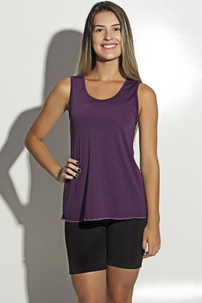 Camiseta de Microlight Nadador com Alça Dupla (Roxo) | Ref: F1190