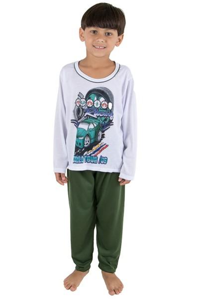 CEZ-PA140-004_Pijama_Infantil_Longo_140_Verde_Escuro__Ref:_CEZ-PA140-004