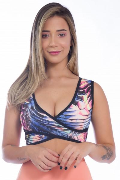 KS-F1478-001_Top_Estampado_Cruzado_Azul_com_Abstrato_Preto_Rosa_e_Amarelo__Ref:_KS-F1478-001