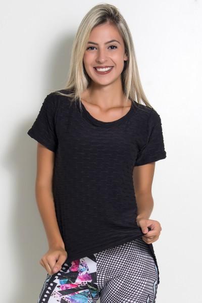KS-F199-001_Camiseta_Tecido_Bolha_Fitness_Mullet_Preto__Ref:_KS-F199-001