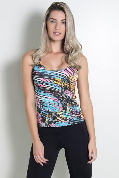 KS-F240-005_Camiseta_Estampada_Hanna_Amarelo_Azul_e_Rosa_com_Rabiscos_Pretos__Ref:_KS-F240-005