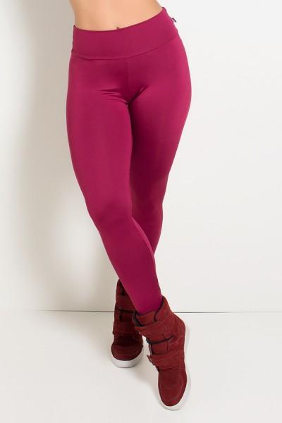 Legging Lisa Cós Baixo (Vinho) | Ref: KS-F1762-002