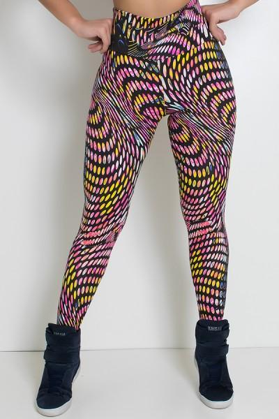 Legging Estampada Bolhas Coloridas | Ref: KS-F27-066