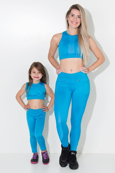 Kit com 5 (cinco) Leggings Infantis Cores Variadas (G) | Ref: KS-KI07-003