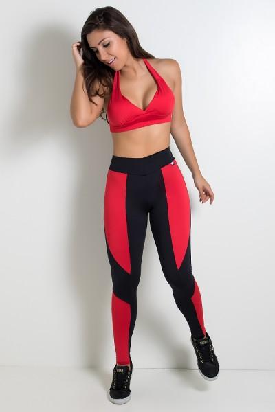 Top Diana Liso com Bojo (Vermelho) | Ref: KS-F314-005