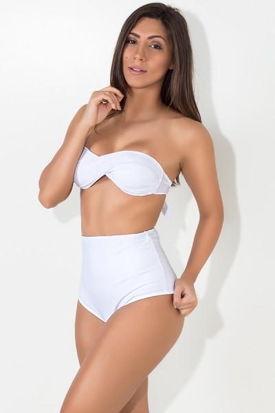 Biquini Tomara que Caia Hot Pants (Branco) | Ref: DVBQ46-001