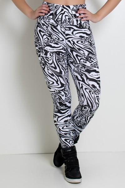 Legging Estampada Tigre Preto e Branco | Ref: KS-F27-088