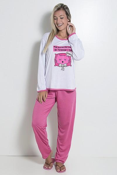 Pijama Feminino Longo 074 (Pink)