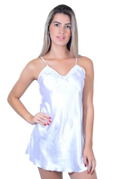 Camisola de cetim 004 (Branca) | Ref: CEZ-CC02-003