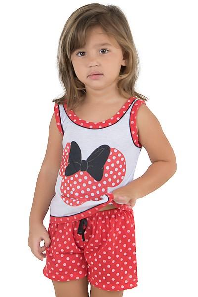 Baby-doll de malha infantil 131 (Vermelho) | Ref.: CEZ-PA131-001