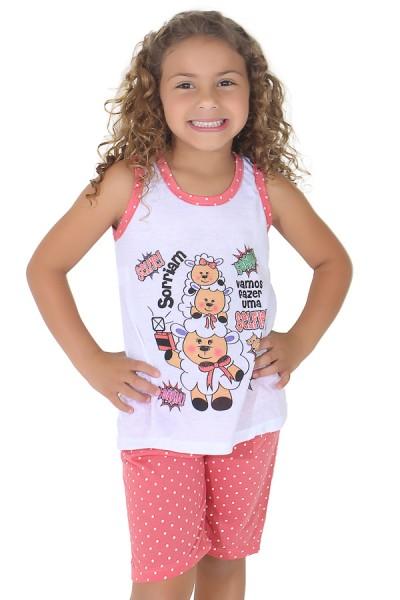 Pijama pescador infantil 275 (Goiaba)   Ref: CEZ-PA275-002
