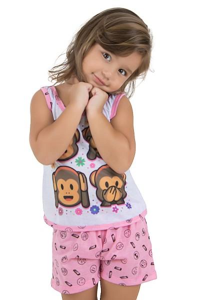 Baby-doll de Malha infantil 204 (Rosa) | Ref.: CEZ-PA204-003