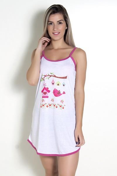Camisola 024 (Pink com passarinho)