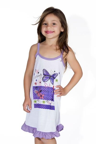 Camisola Infantil 141 (Lilas com borboletas) AB