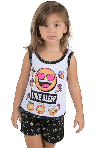 Baby-doll de Malha infantil 204 (Preto)   Ref.: CEZ-PA204-004