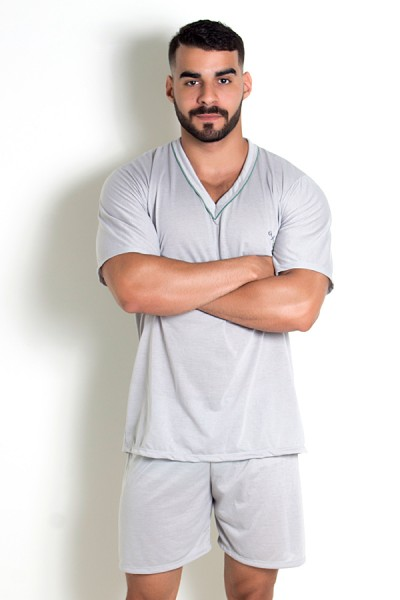 Pijama Mas. Curto 070 (Cinza)