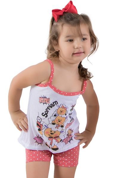 Babydoll Infantil 268 (Goiaba) | Ref: CEZ-PA268-002