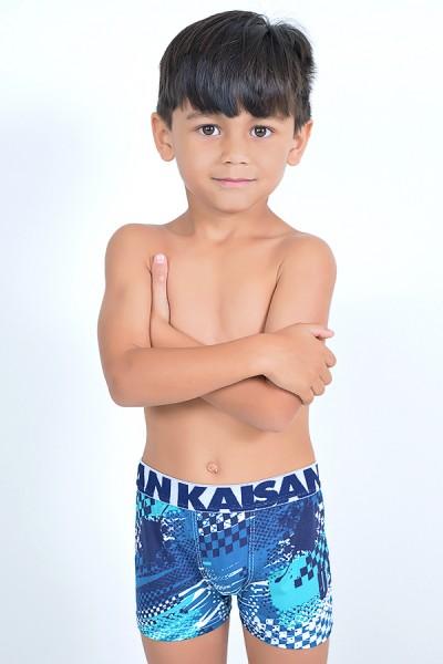 Kit com 4 Cuecas Boxer Infantil - Microlight (182)