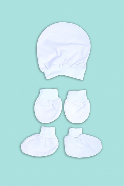 Kit Touca, Luva e Sapatinho para Bebê | Ref: BB03