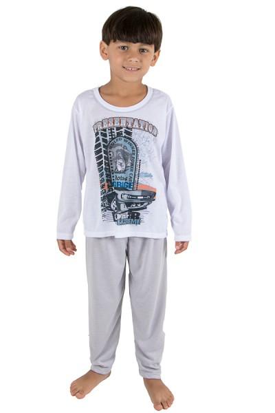 Pijama Infantil Longo 140 (Cinza)   Ref: CEZ-PA140-003