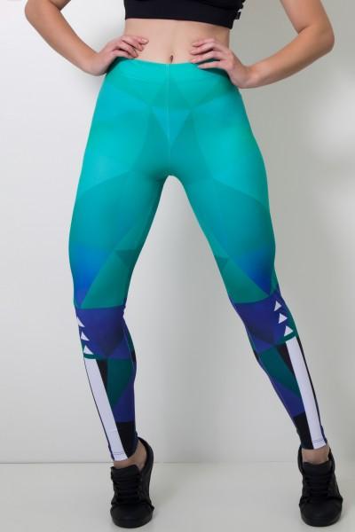 Calça Legging Sublimada Abstract Green | Ref: CAL358-041