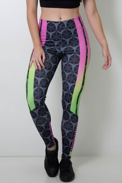 Calça Legging Sublimada Fluor Lines | Ref: CAL361-041