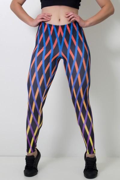 Calça Feminina Legging Sublimada Orangegrid | Ref: CAL389-041