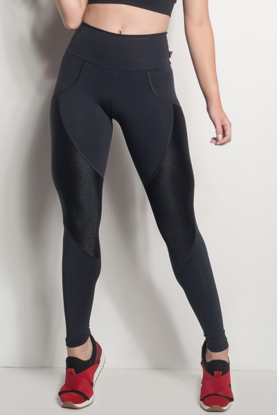 Calça Comfort Com Detalhe Em Textura (Preto) | Ref: CAL423-001/001/000