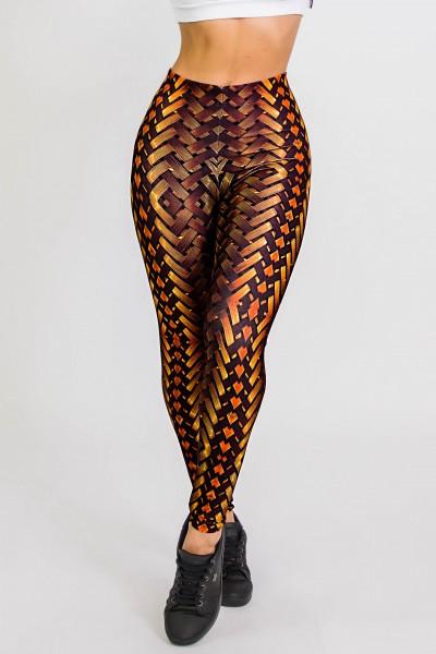 Calça Legging Sublimada New Braided Gold  Ref CA441-041-000