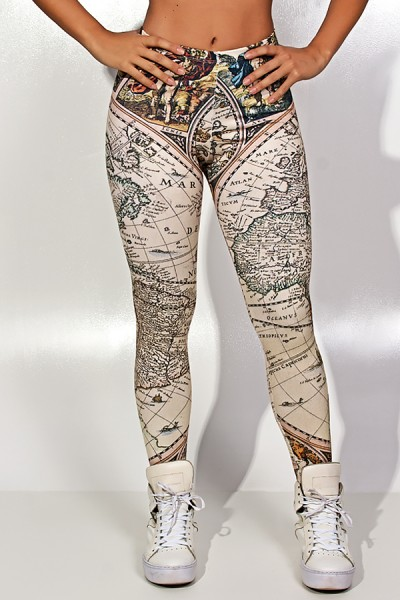 Legging Geography Sublimada | Ref: KS-F1827