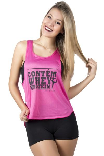 Camiseta Fitness Dry Fit Trançada (Contém Whey Protein)
