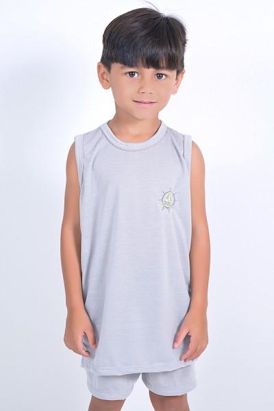 Pijama infantil mas. Regata 142 (Cinza)