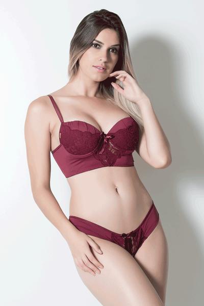 Conjunto Marcela 504 (Vinho) | Ref: CEZ-TT504-001