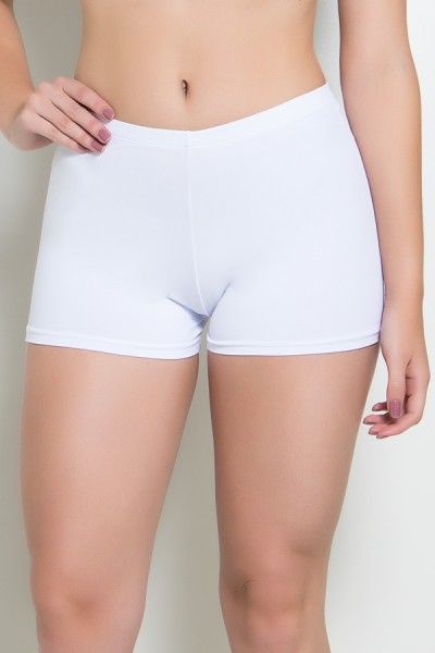 Mini Short Liso (Branco) | Ref: KS-F1844-002