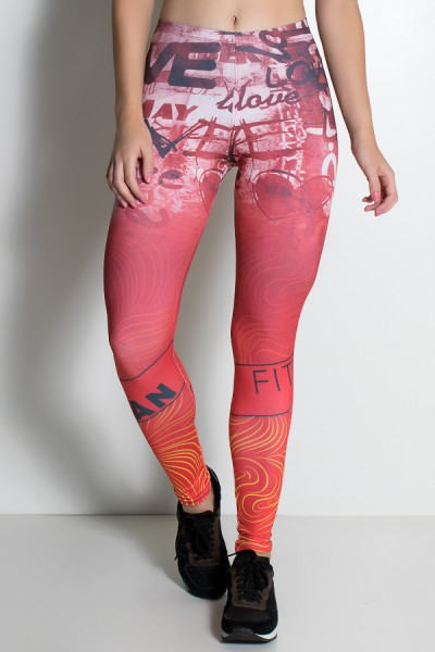 Legging Love Fitness Sublimada | Ref: KS-F1939-001