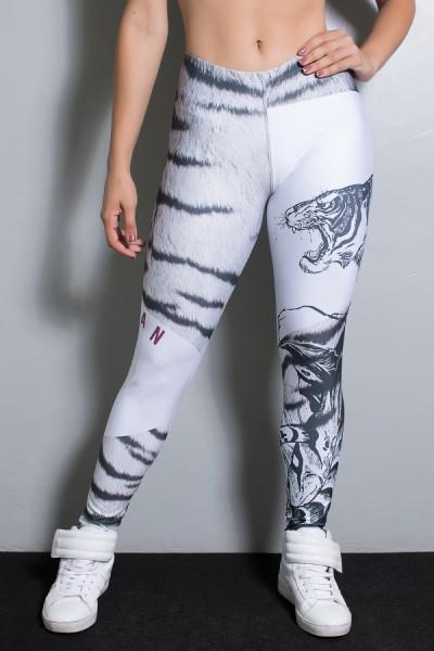 Legging Tigre Cinza e Preto Sublimada | Ref: KS-F1945-001