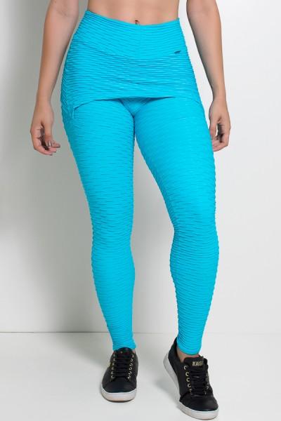 Calça Saia Tecido Bolha (Azul Celeste)   Ref: KS-F225-007
