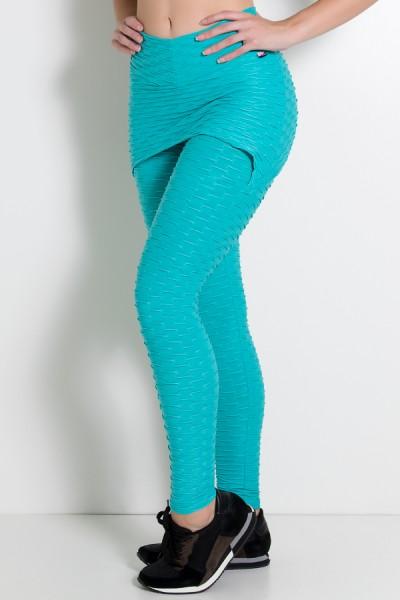 Calça Saia Tecido Bolha (Verde Esmeralda) | Ref: KS-F225-011Calça Saia Tecido Bolha (Verde Esmeralda) | Ref: KS-F225-011
