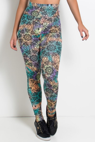 Legging Estampada (Tribal Indigena Colorido) | Ref: KS-F27-117