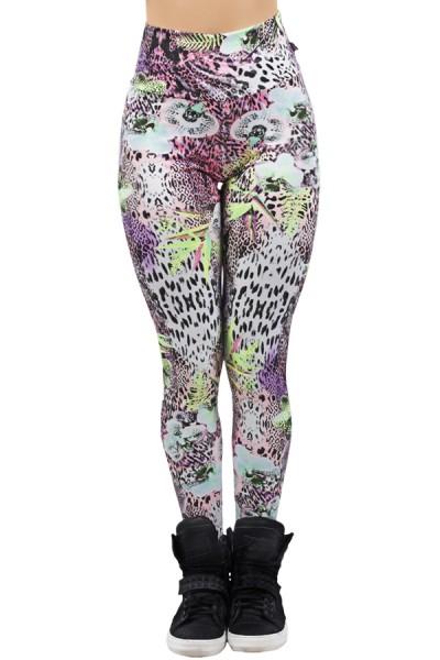Legging Estampada Floral com Oncinha 2 | Ref: CA487
