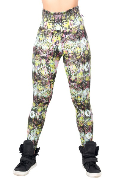 Legging Estampada Escama Colorida com Figuras