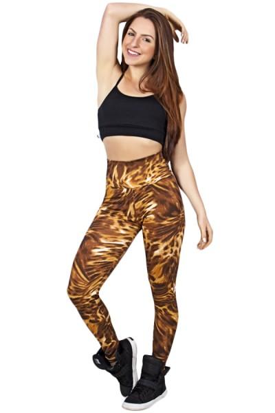 Legging Estampada Tigre Caramelo | Ref: CA417
