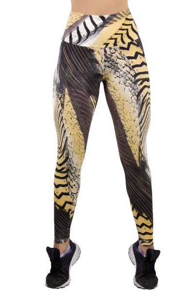 Legging Estampada Tigre Bege