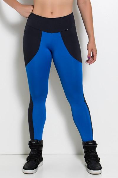 Calça Legging Duas Cores (Preto / Azul Royal) | Ref: KS-F29-003