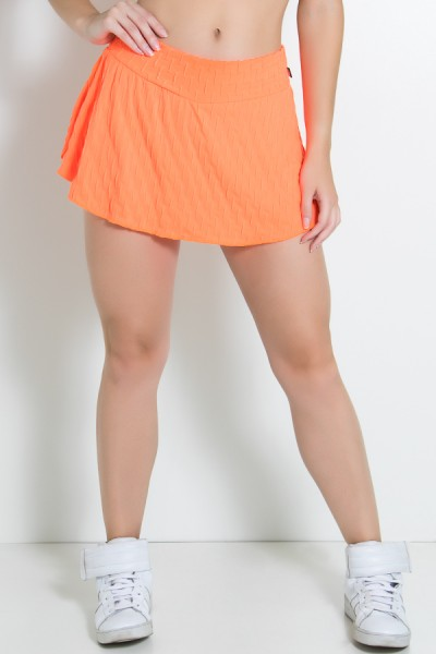Short Saia Isabelle Bolha Fluor (Laranja Fluor)   Ref: KS-F294-003