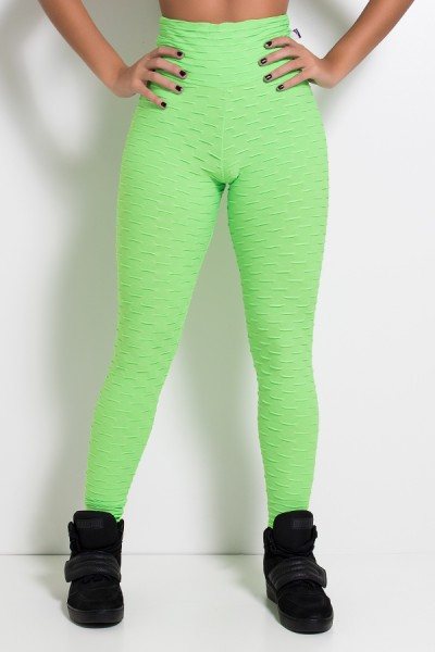 Legging Tecido Bolha Fluor (Verde Limão Fluor) | Ref: KS-F300-002