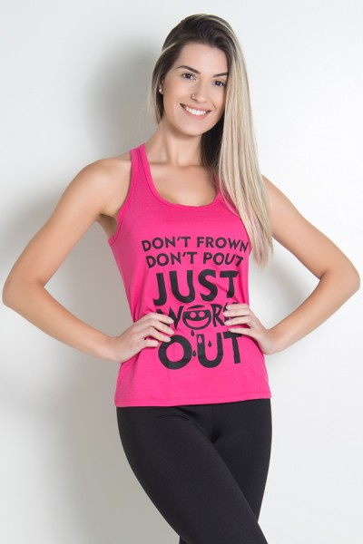 Camiseta de Malha Nadador (Just work out) (Rosa Pink) | KS-F320-004